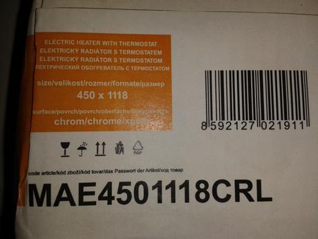Kúpeľňový elektrický radiátor - chróm,