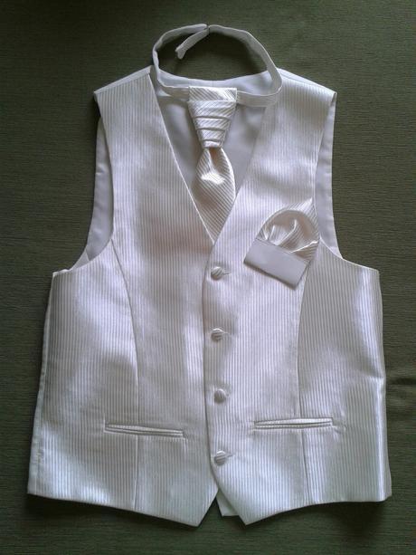 Svadobná vesta + kravata zn. Ozeta, 48