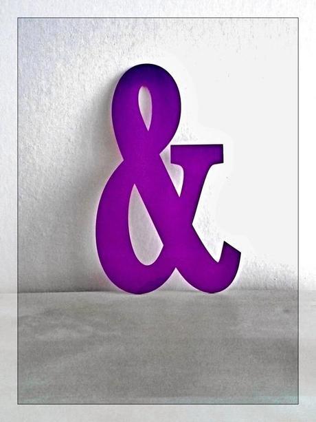 """Ampersand """"and"""" fialový, dekorace k focení,"""