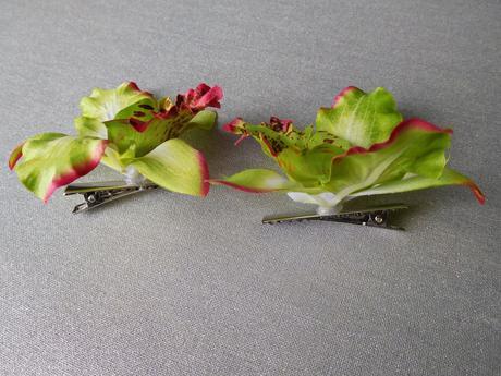 Látkové květy do vlasů,