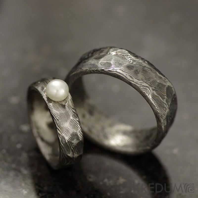 Snubni Zasnubni Prsten Damasteel Natura A Perla 4 390 Kc