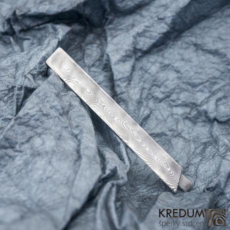 Kovaná spona na kravatu Loper,ocel damasteel ,