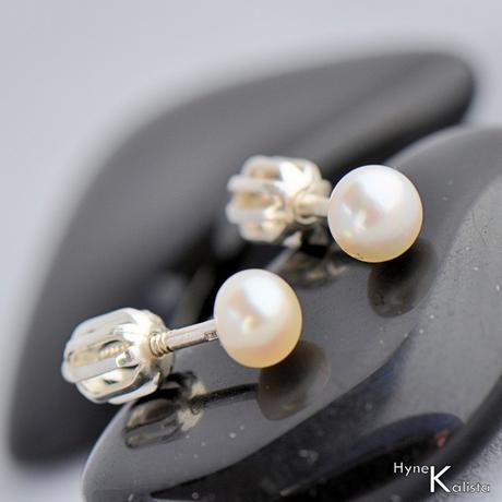 Perlové náušničky - Kiki 5mm,