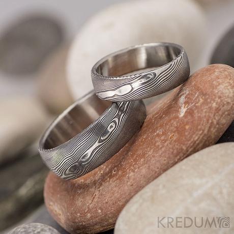 Snubní prsten nerezová ocel damasteel - PRIMA,