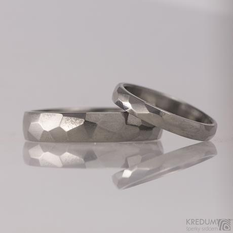 Titanový snubní prsten - Skalák titan,