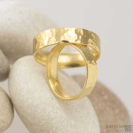 Zlatý snubní prsten Golden Draill,