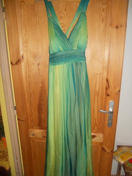 Zeleno-žlté šaty, XXL