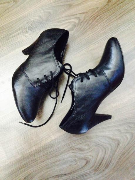 čierne kotníčkové topánky , 42