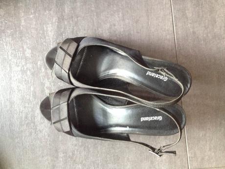 čierne spoločenske sandálky, 42