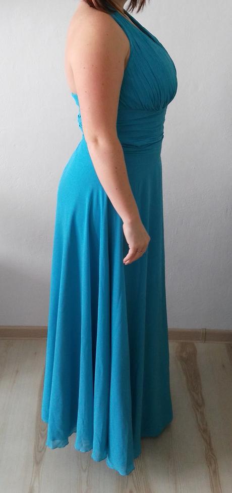 Společenské šaty - modré, 44