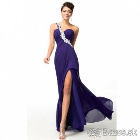 Fialové spoločenské šaty 534417c99e3
