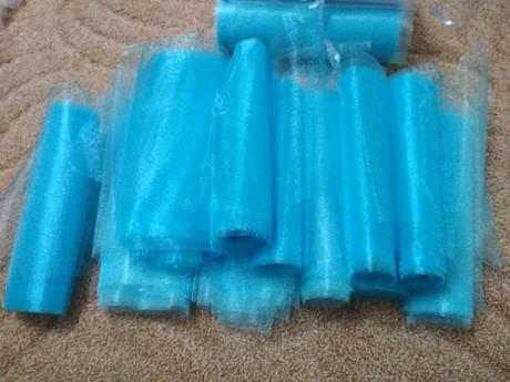 světle modrá organza 20cm x 90m,
