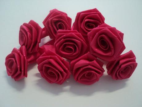 Růžičky - růžová pink - ručně sešívané,