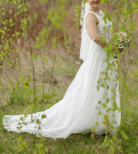 Svatební šaty vel. 38-40, 38