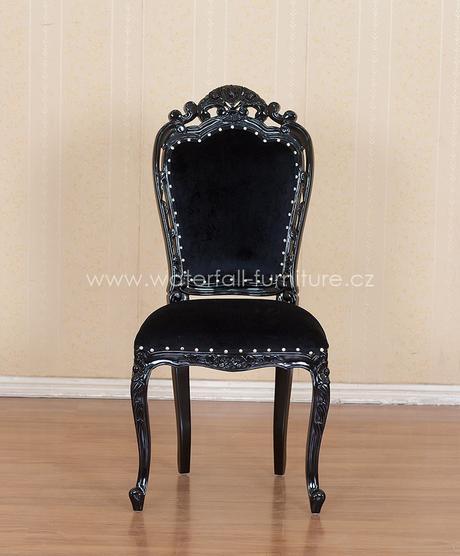 Černá retro židle Noir,