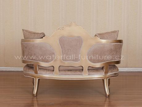 Malé retro hnědé sofa,