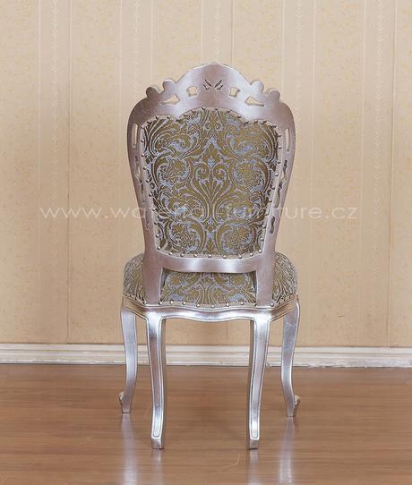 Zámecká židle stříbrná barokní,
