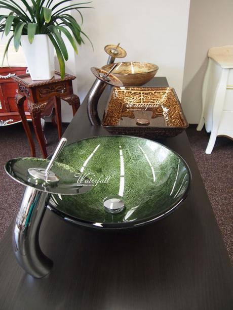 Zelený umyvadlový set Green Amethyst,