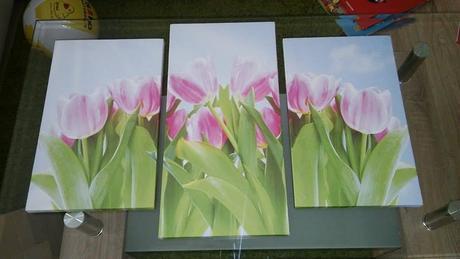 trojdielny obraz tulipany,