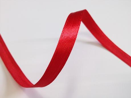 Červené saténové stuhy - 22 m / 1,0 cm,