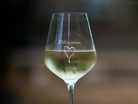 děkujeme - 1 sklenice na víno,