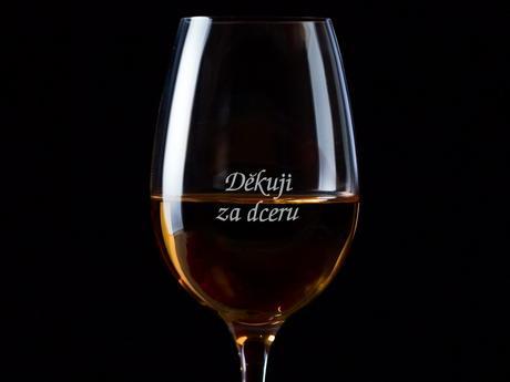 Děkuji za dceru / za syna - 1 sklenice na víno,