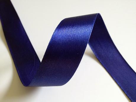 Modré saténové stuhy - 22 m / 2,5 cm,