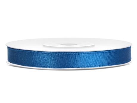 Modré saténové stuhy - 25 m / 1,2 cm,