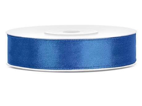 Modré saténové stuhy - 25 m / 2,5 cm,