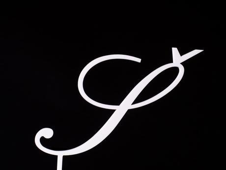 Monogram do dortu s háčkem Č, Š, Ř, Ž,