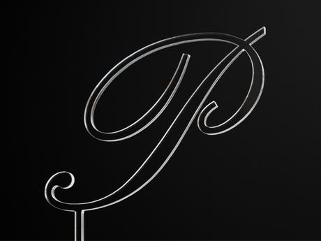 Monogram na dort / A-Z / čiré,