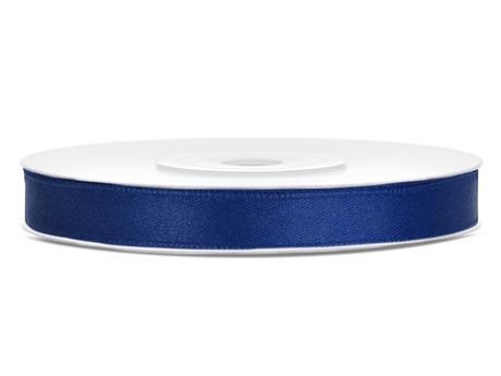 Námořní modř saténové stuhy - 25 m / 1,2 cm,