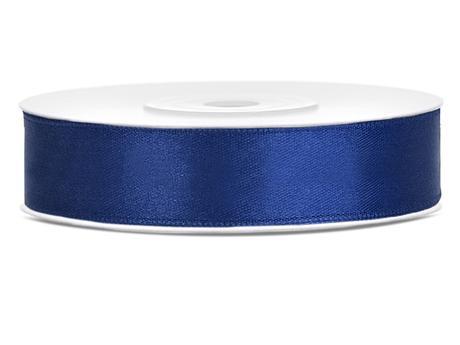 Námořní modř saténové stuhy - 25 m / 2,5 cm,