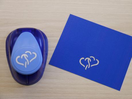 Ozdobná děrovačka 22 mm - 2  srdce,