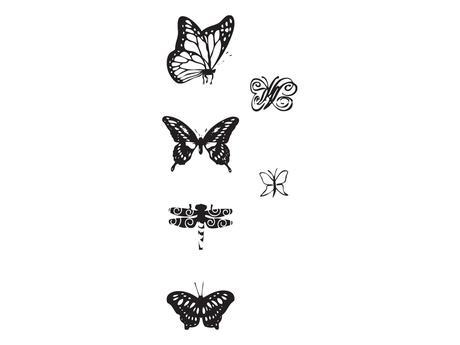 Razítka - motýli,