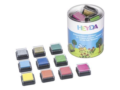 razítkovací polštářky - sada různých barev,