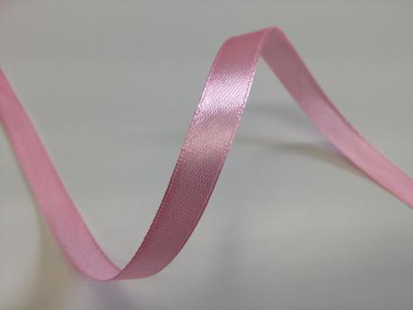 Růžové saténové stuhy - 22 m / 1,0 cm,