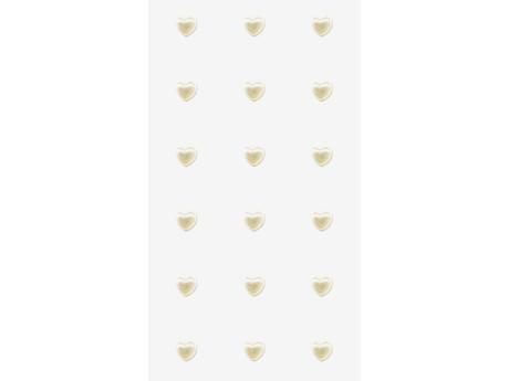 Svatební samolepky - perly srdce větší 18 ks,