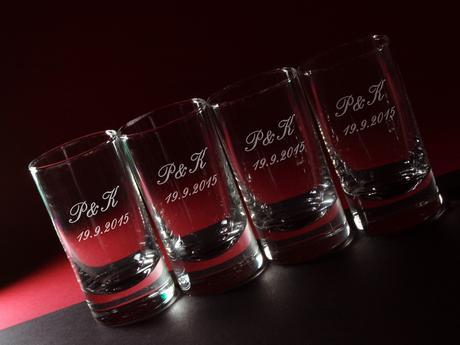Svatební skleničky - panák - od 12 ks,