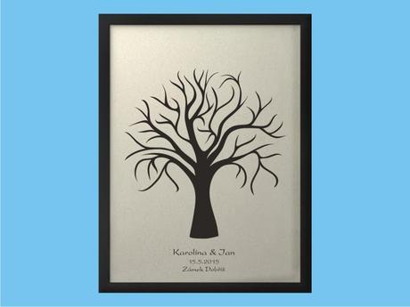Svatební strom 1 se jmény 53x73 cm,