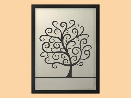 Svatební strom 2 v rámu 53 x 73 cm,