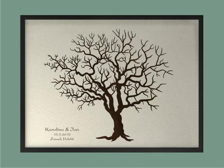 Svatební strom 3 se jmény 73 x 53 cm,