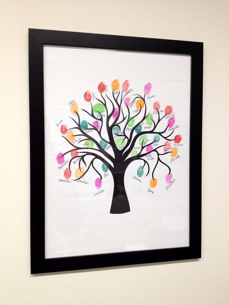 Svatební strom 3 v rámu 73 x 53 cm,