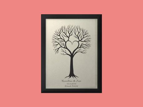Svatební strom 4 se jmény 44 x 54 cm,