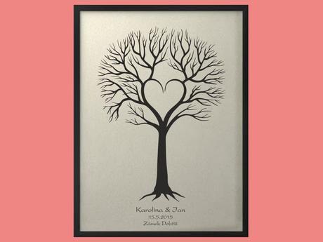 Svatební strom 4 se jmény 53 x 73 cm,