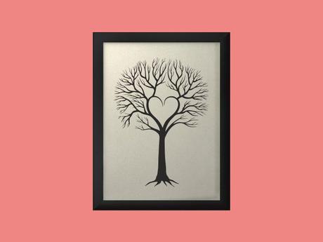 Svatební strom 4 v rámu 43 x 53 cm,