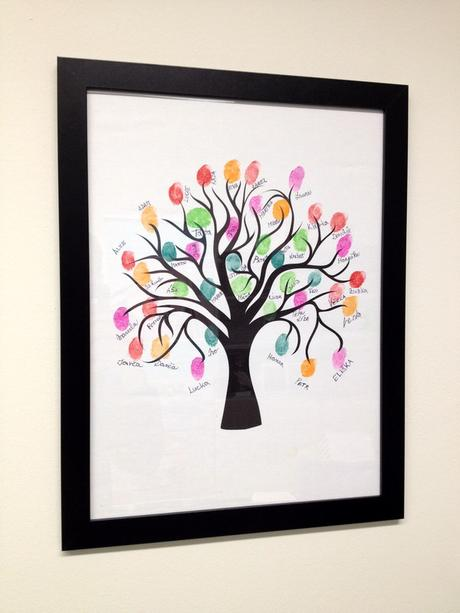Svatební strom 4 v rámu 53 x 73 cm,