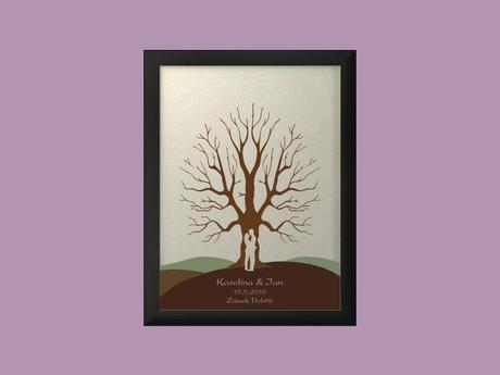 Svatební strom 5 se jmény 34 x 44 cm,