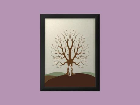Svatební strom 5 v rámu 44 x 54 cm,