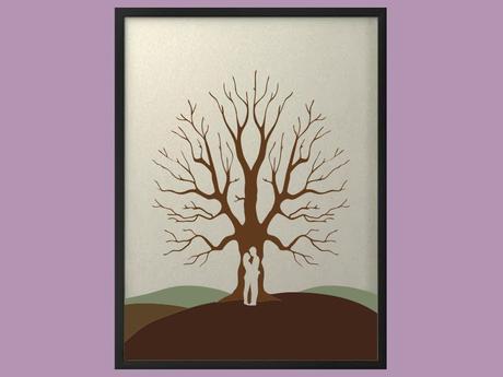 Svatební strom 5 v rámu 53 x 73 cm,